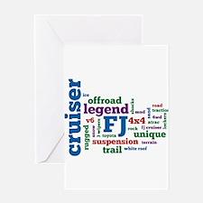 FJ Cruiser word cloud Greeting Card