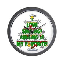 I LOVE SMILING CHRISTMAS ELF SPECIAL Wall Clock