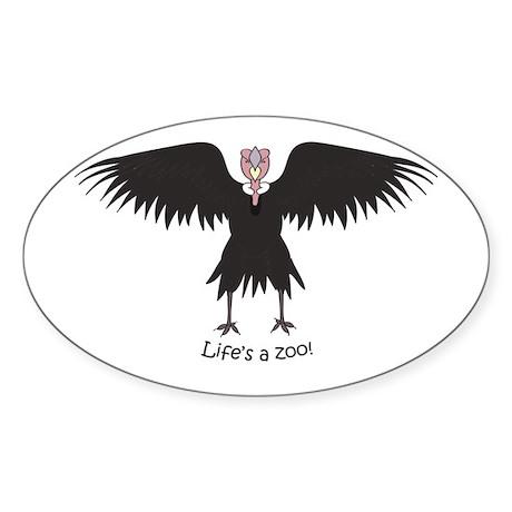 Andean Condor Oval Sticker