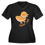 Tweet Me Women's Plus Size V-Neck Dark T-Shirt