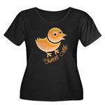Tweet Me Women's Plus Size Scoop Neck Dark T-Shirt