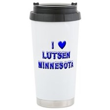 I Love Lutsen Winter Travel Mug