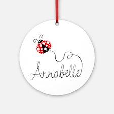 Ladybug Annabelle Ornament (Round)