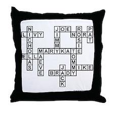 O'MALLEY II Scrabble-Style Throw Pillow