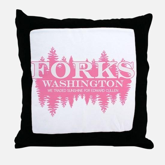 Forks - Washington (in girly Throw Pillow