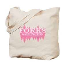 Forks - Washington (in girly Tote Bag