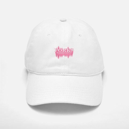 Forks - Washington (in girly Baseball Baseball Cap