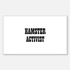HAMSTER ACTIVIST Rectangle Decal