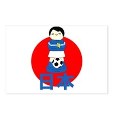 Japan Kokeshi Football Postcards (Package of 8)