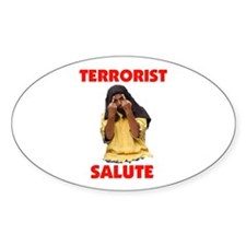 SALUTE THEM BACK Oval Decal