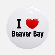 I Love Beaver Bay Ornament (Round)