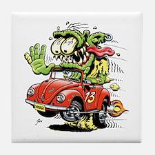 VW Convertible Monster Tile Coaster