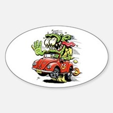 VW Convertible Monster Oval Decal