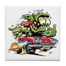 Chevy Corvette Monster Car Tile Coaster