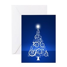 Blue Tree Greeting Card