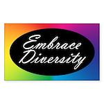 EMBRACE DIVERSITY Rectangle Sticker