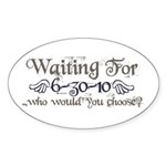 Waiting For Eclipse Oval Sticker (50 pk)
