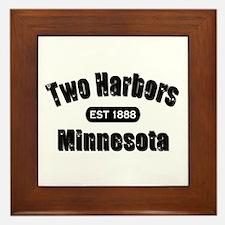 Two Harbors Established 1888 Framed Tile