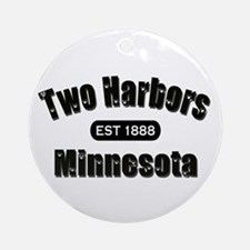 Two Harbors Established 1888 Ornament (Round)