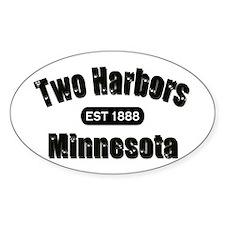 Two Harbors Established 1888 Oval Sticker (10 pk)