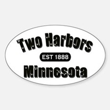 Two Harbors Established 1888 Oval Decal