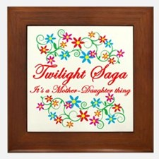 Twilight Mom Daughter Framed Tile
