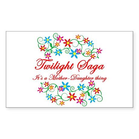 Twilight Mom Daughter Sticker (Rectangle)