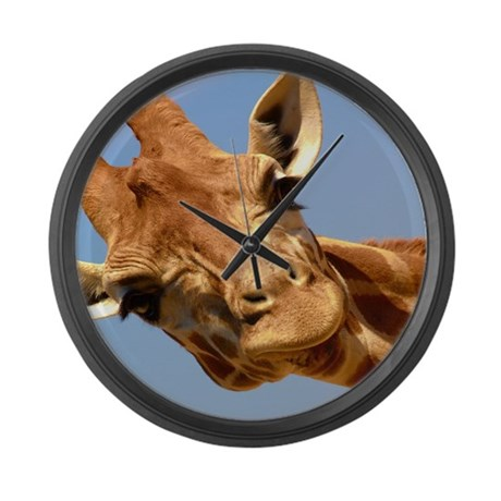 Curious Giraffe Large Wall Clock
