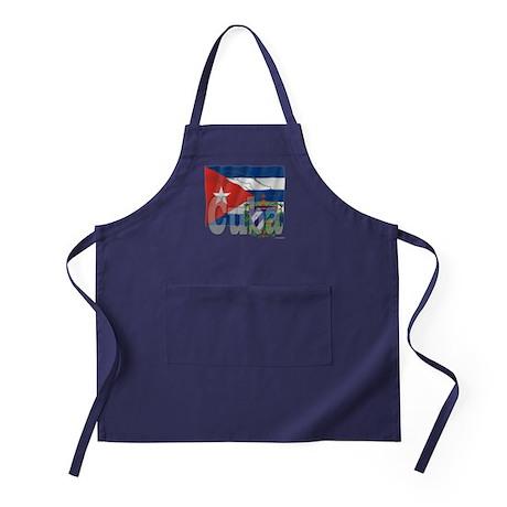 Silky Flag of Cuba Apron (dark)