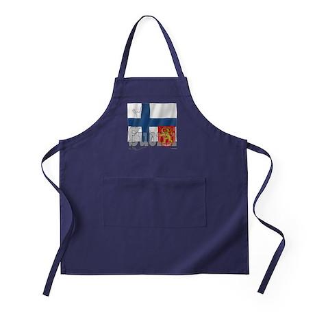 Silky Flag of Suomi Apron (dark)