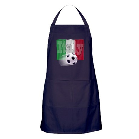 Soccer Flag Italy (B) Apron (dark)