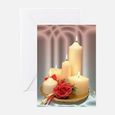 Christmas Candles Greeting Cards (Pk of 10) pm