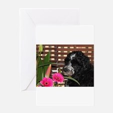 Funny Portugese water dog Greeting Card