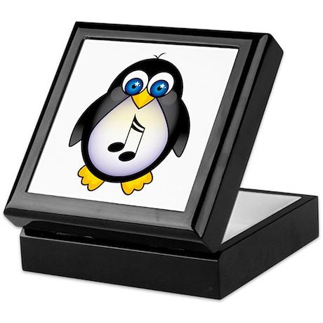 Penguin Music Lover Keepsake Box