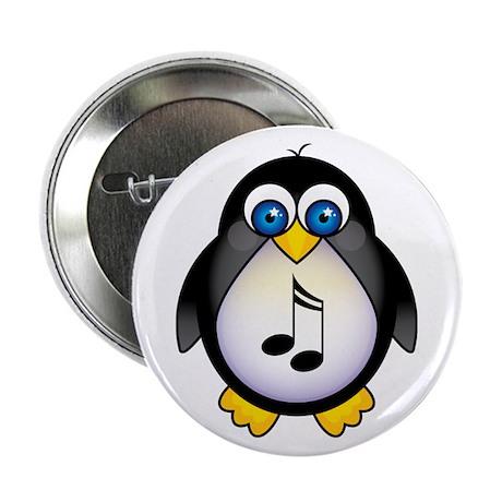 "Penguin Music Lover 2.25"" Button"