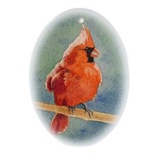 Northern Cardinal Oval Ornament