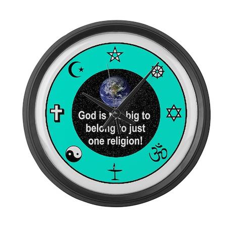 Big God Religion III Large Wall Clock