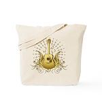 Golden Winged Folk Guitar Tote Bag