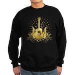 Golden Winged Folk Guitar Sweatshirt (dark)