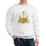 Golden Winged Folk Guitar Sweatshirt