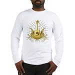 Golden Winged Folk Guitar Long Sleeve T-Shirt