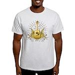 Golden Winged Folk Guitar Light T-Shirt