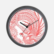 Traditional Chinese Phoenix Wall Clock