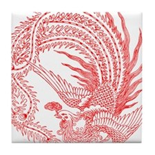 Traditional Chinese Phoenix Tile Coaster