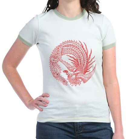 Traditional Chinese Phoenix Jr. Ringer T-Shirt