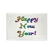 Happy New Year Rectangle Magnet (100 pack)