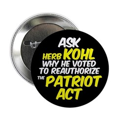 Ask Herb Kohl Patriot Act Button
