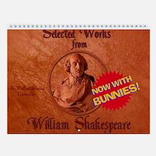 Shakespeare Bunnies Wall Calendar