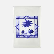 Blue Palms Rectangle Magnet