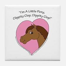 "I'm A Little Pony"" Tile Coaster"